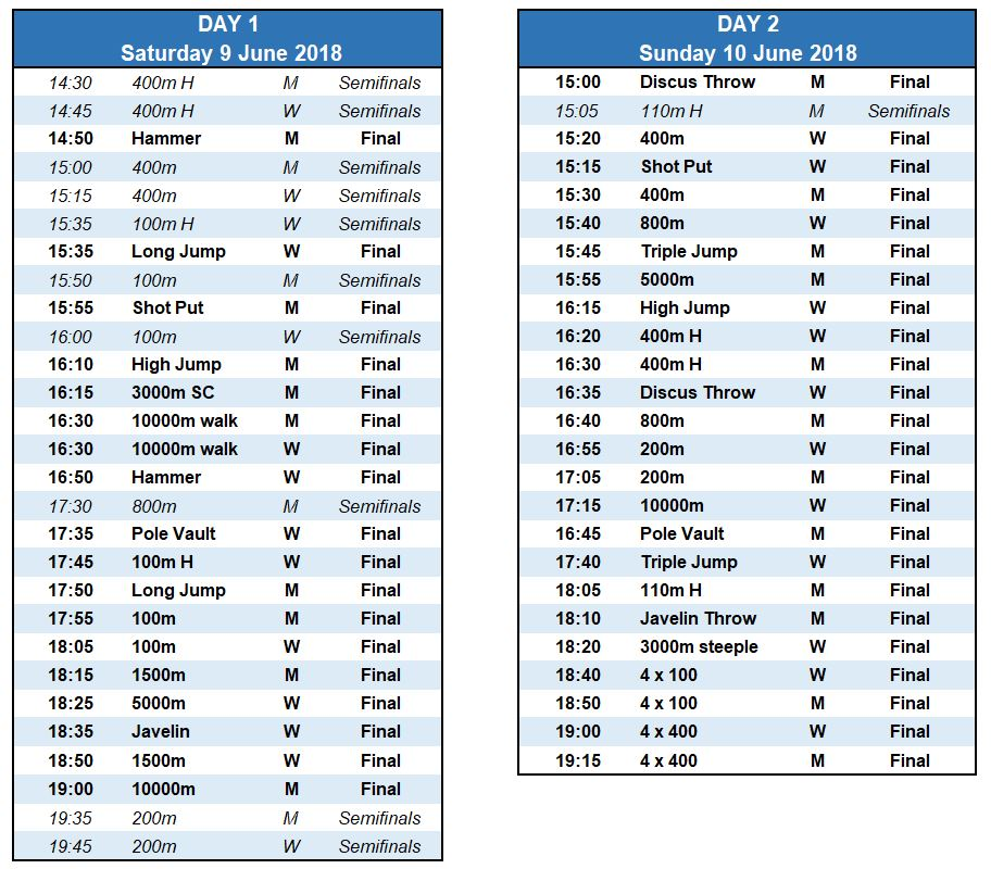 timetableJesolo2018